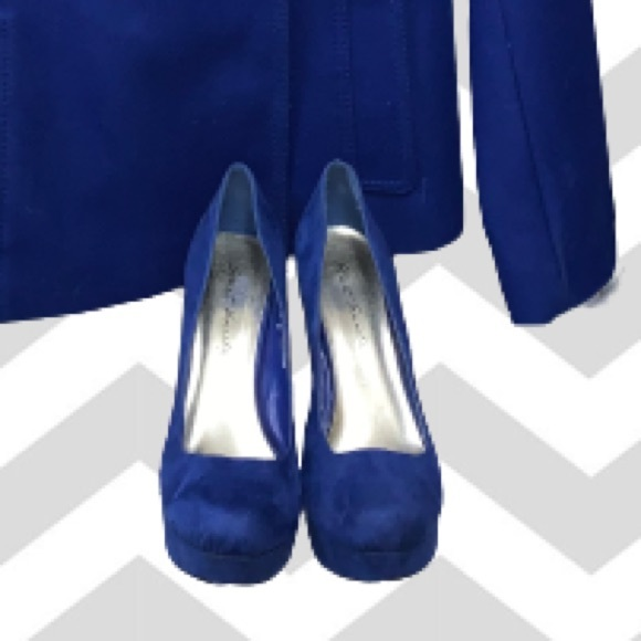 """Street Society 5"""" Heels Blue """"Suede"""" - see photos"""